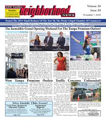 new tampa neighborhood news issue 23 november 7 2015 by