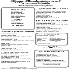 is red lobster open on thanksgiving thanksgiving menu 2016 coach house diner
