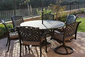60 Inch Patio Table Nassau 7pc Dining Set With 60 Inch Table 2 Series 3000