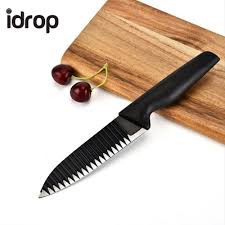 coloured kitchen knives set idrop 5pcs black colour anti stick kitchen knife set idrop