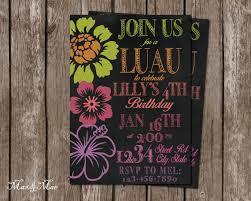 luau birthday invitation hawaiian luau party bridal shower luau