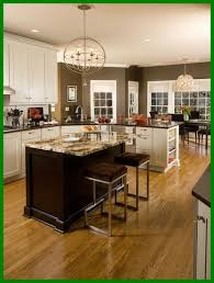 Glaze For Kitchen Cabinets Fascinating White Kitchen Cabinets Color With Chocolate Brown Wall