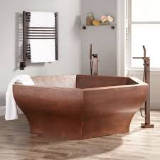 73 hexagon hammered copper two person soaking tub