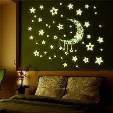 Star Decals For Ceiling by Fashion Wall Ceiling Stickers Glow In The Dark Stars And Moon Home