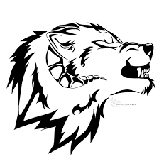 snarling horned wolf design by xkingbadwolf on deviantart