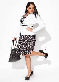 look elegant in black and white plus size dresses