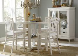 counter height dining set contemporary chairs expandable table