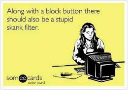 Skank Meme - along with a block button there should also be a stupid skank filter
