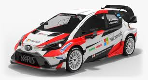 toyota rally car low poly toyota yaris wrc 3d model turbosquid 1166420