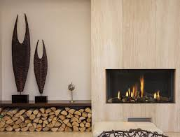 gas fireplace contemporary closed hearth built in mod