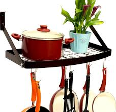 kitchen style wall mounted pots and pans rack pan hanging rack