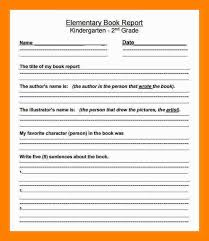 grade book report template 6 book report template 3rd grade references format