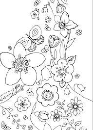 spring flowers coloring pages children flower coloring pages of