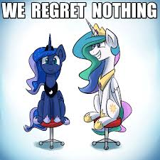 Mlp Luna Meme - image fanmade celestia and luna spin by anticularpony gif my