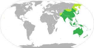 regional map of asia asia pacific