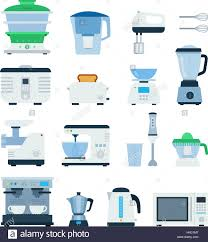 Kitchen Types by Kitchen Machines Vector Flat Illustrations Cooking And Kitchen