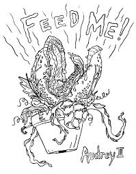 little shop of horrors coloring pages little shop of horror u0027s