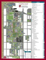 university of denver campus map denver pinterest campus map