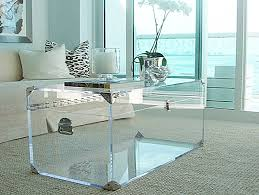 Square Acrylic Coffee Table Coffee Table Lucite Trunk By Serge De Troyer Round Acrylic