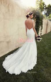 backless wedding dress open back ivory lace mermaid backless wedding dress