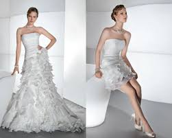 one wedding dress two wedding styles blogs wedding club