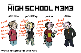 High School Freshman Meme - schmee s high school meme by fl0e on deviantart