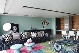 Cool Color Schemes Open Living Room Interior - Cool colors for living room