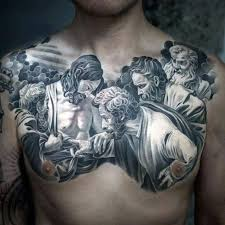 Chest Tattoos - 40 jesus chest designs for chris ink ideas
