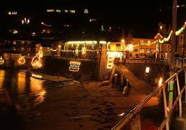 Christmas Light Pictures Mousehole Christmas Lights