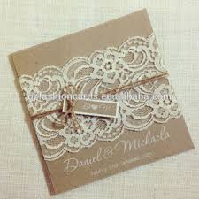 vintage lace wedding invitations hot sale square rustic vintage lace wedding invitation card with
