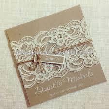 vintage lace wedding invitations hot sale square rustic vintage lace wedding invitation card with