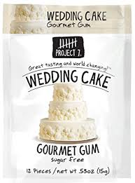 project 7 sugar free gum wedding cake 12 pouches