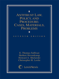 antitrust law policy and procedure cases materials problems