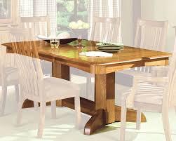 Oak Dining Room Sets Intercon Solid Oak Trestle Dining Table Highland Park Inhp4296tab