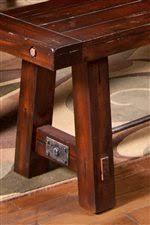 Vineyard Bench Sunny Designs Vineyard Solid Mahogany Rectangular Table With