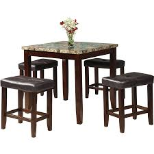 High Top Dining Room Table Sets Dining Room Sets Walmart Com