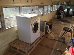 Tiny House Innovations Rv Washer Dryer Installed Tiny House Bus Conversion