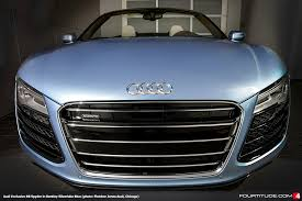 audi exclusive r8 spyder v10 in bentley silverlake blue