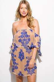 navy blue tie dye cold shoulder long bell sleeve boho mini sun