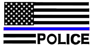 Subdued American Flag With Thin Blue Line American Flag Police Thin Blue Line Decal Https Www Etsy Com