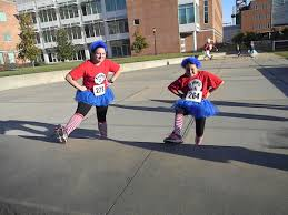 thing 1 u0026 thing 2 halloween costumes student united way halloween 5k raises over 5 000 for local