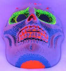 Halloween Black Light by Vintage Sugar Skull Halloween Mask Zest 1960 U0027s 60 U0027s Skeleton Day