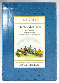a a milne world of pooh christopher robin shepard 2 volume hc book