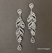 rhinestone chandelier earrings bridal chandelier earrings wedding jewelry rhinestone chandelier