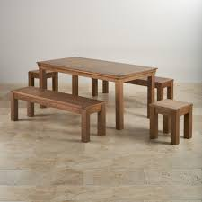 french oak dining set 6ft table with 2 benches u0026 stools