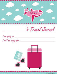 printable vacation journal pages girls printable travel journal familytravel mrs kathy king