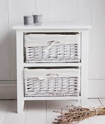 Bathroom Basket Drawers 2 Drawer Basket Storage White Bathroom Storage