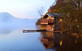 Lakes Lake House Hills Peaceful Light Pier Misty Forest Lights