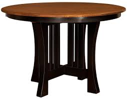 Amish End Tables by Berkshire Round Bar And Gathering Table Countryside Amish Furniture