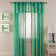 Walmart Sheer Curtain Panels Curtain Curtain Outstanding Aqua Sheerains Image Design Light